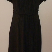 Black Short Sleeve Dress-Alfani Woman Size 1X