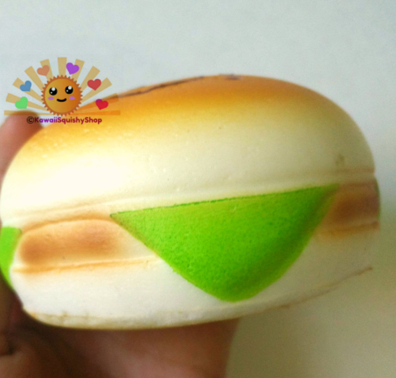 Jumbo Burger Squishy : Jumbo Emoticon/Face Hamburger Squishy Charms ? Kawaii Squishy Shop ? Online Store Powered by ...