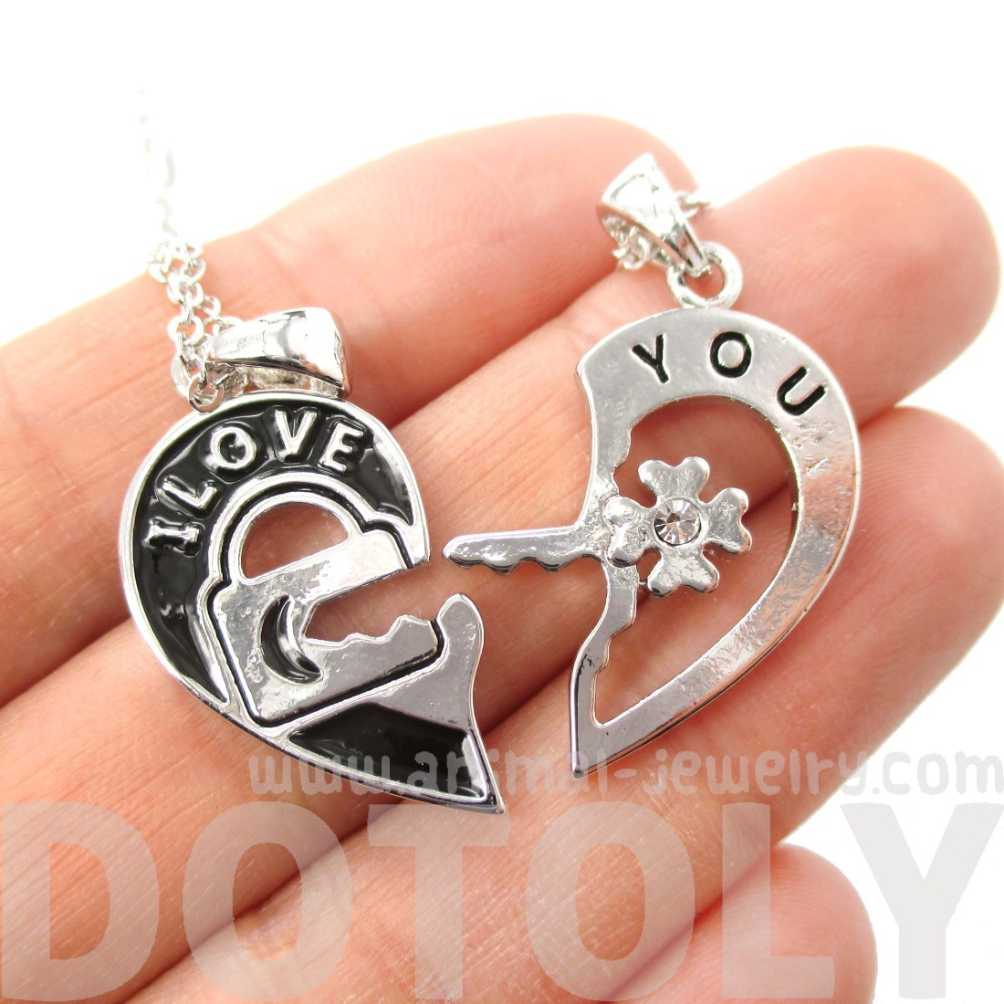 Couples 2 piece heart shaped i love you lock and key pendant couples 2 piece heart shaped i love you lock and key pendant necklace in mozeypictures Image collections
