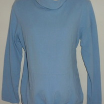 Light Blue Turtleneck Shirt with Drawstring Bottom-Motherhood Maternity Size Large  SF0413