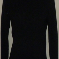 Black Ribbed Turtleneck Sweater-Duo Maternity Size Medium  SF0413