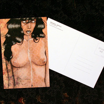 "SoulMilk - 4x6"" Postcard - lowbrow art drool fetish sexy creepy"