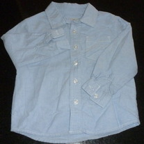 Light Blue Dress Shirt with Buttons/Collar-Cherokee Size 24 Months