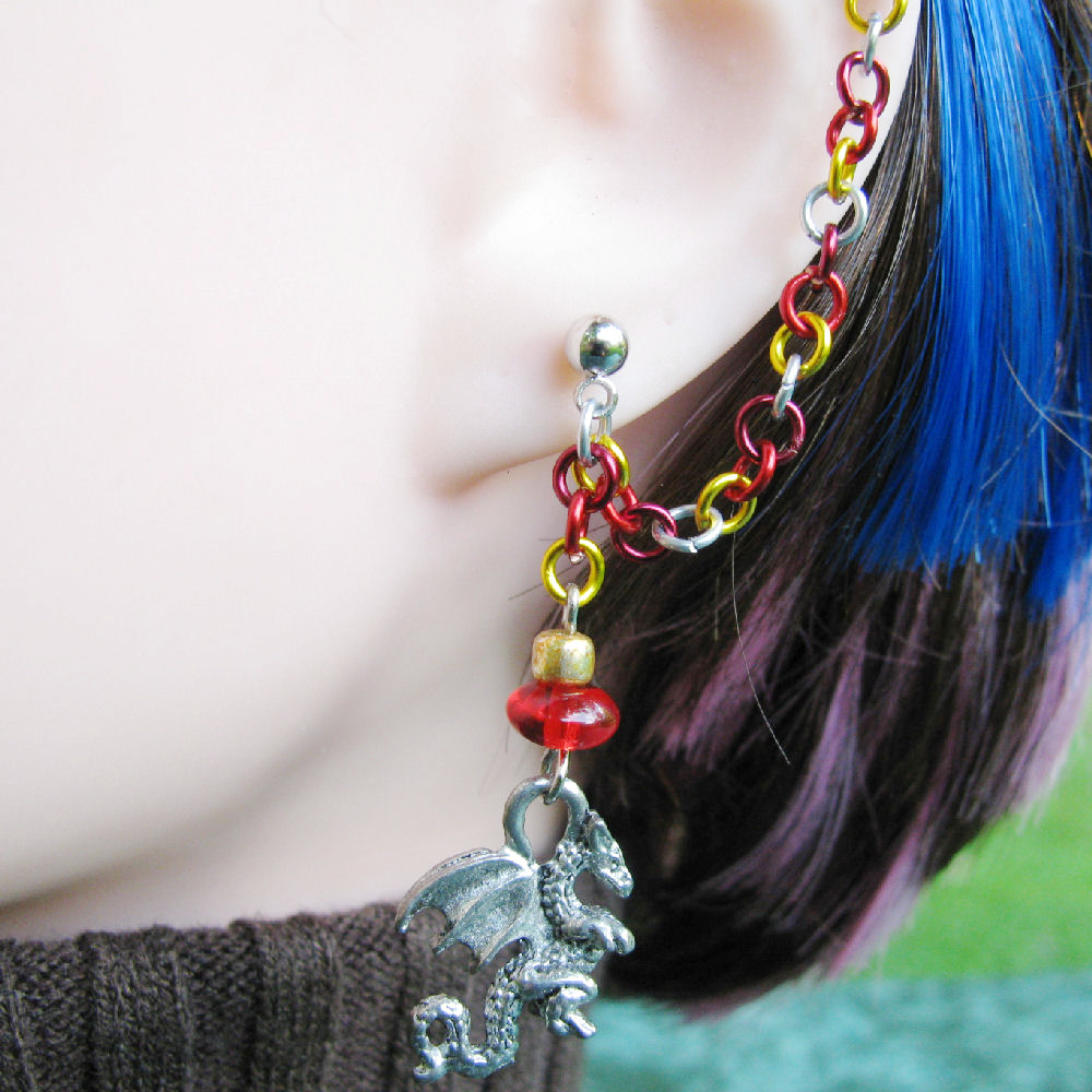 chain ear cuff or bajoran earring in and gold