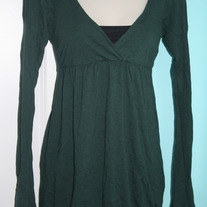 Green Babydoll Top