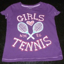 Purple Girls Tennis Short Sleeve Shirt-Gap Kids Size XS 4/5
