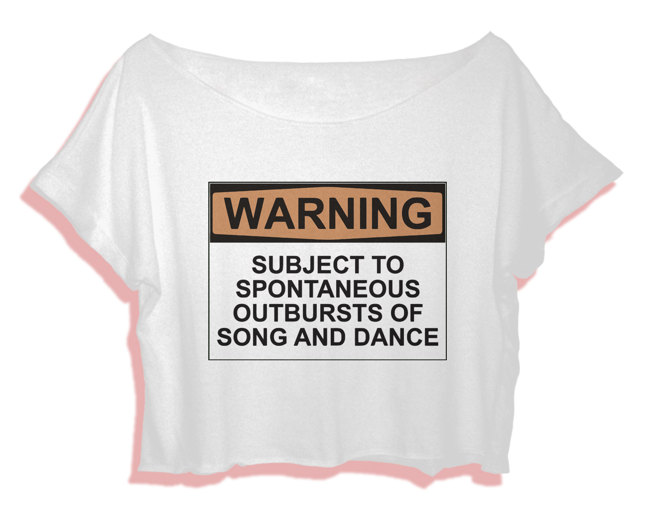 best ballet quotes shirt women crop top warning song and dance crop