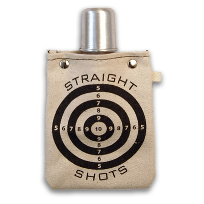 Straight shot flask