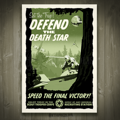 Defend the death star - artist proof
