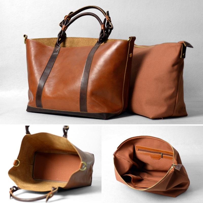 Women's Handmade Leather Handbag / Purse / Shoulder Bag ...