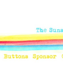"""The Sunshine Journal"" Rainbow Striped Watercolor Premade Blog Banner with Navigation Links"