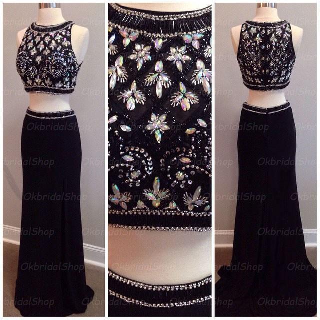 black prom dress, long prom dress, sexy prom dress, prom dress, hot ...