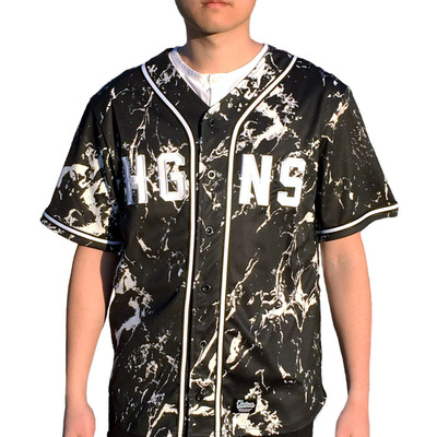Marble baseball jersey in black