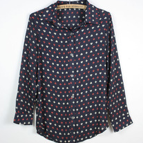 Chiffon Poker Blouse (Brand New)