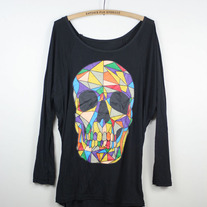 Colourful Skull Tunic/Dress Lightweight