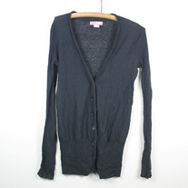 Black Thin Knit Cardigan by Lux