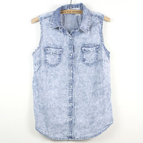 Denim Button-up Vest (Like New)
