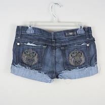 Rock & Republic Anthrax Skull Shorts (New)