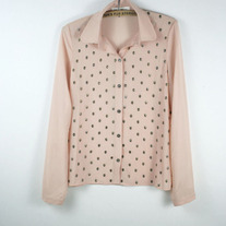 Nude Skull Embellished Blouse (Brand New)