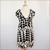 Black and White Stretch Dress