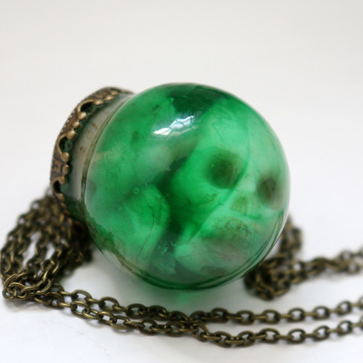 Toxic waste specimen jar necklace