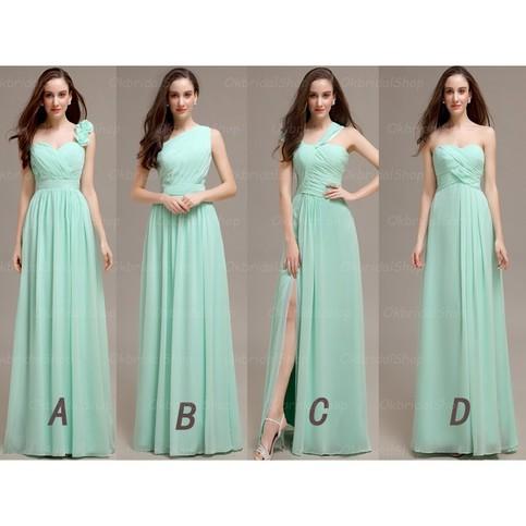 Long bridesmaid dress mint bridesmaid dress cheap for Mint bridesmaid dresses wedding