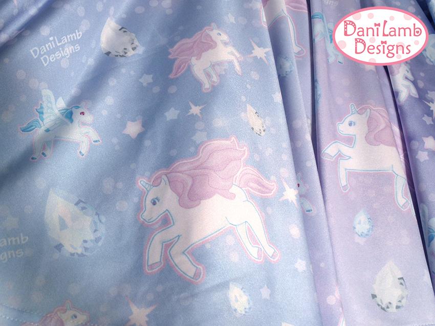 Unicorn skirt pegasus pony fairy kei pastel galaxy skirt for Pastel galaxy fabric