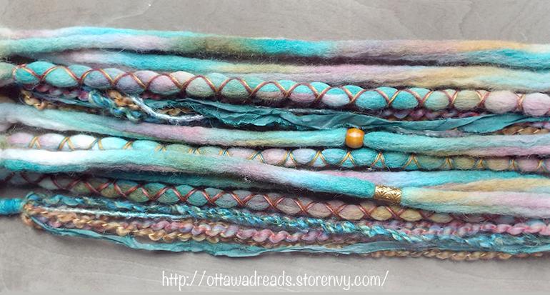 10pc Summer Gypsy Wool Dreadlock Hair Extensions Set Ottawa Dreads