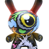 "Zueye Tree Top Yellow 3"" Kidrobot Dunny"