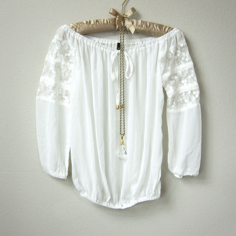 White Lace Mexican Blouse 59