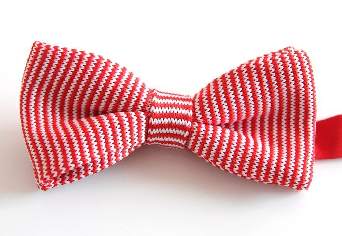 Mens Knitted Bow Tieredwhite Bowtiewtie For Weddingparty