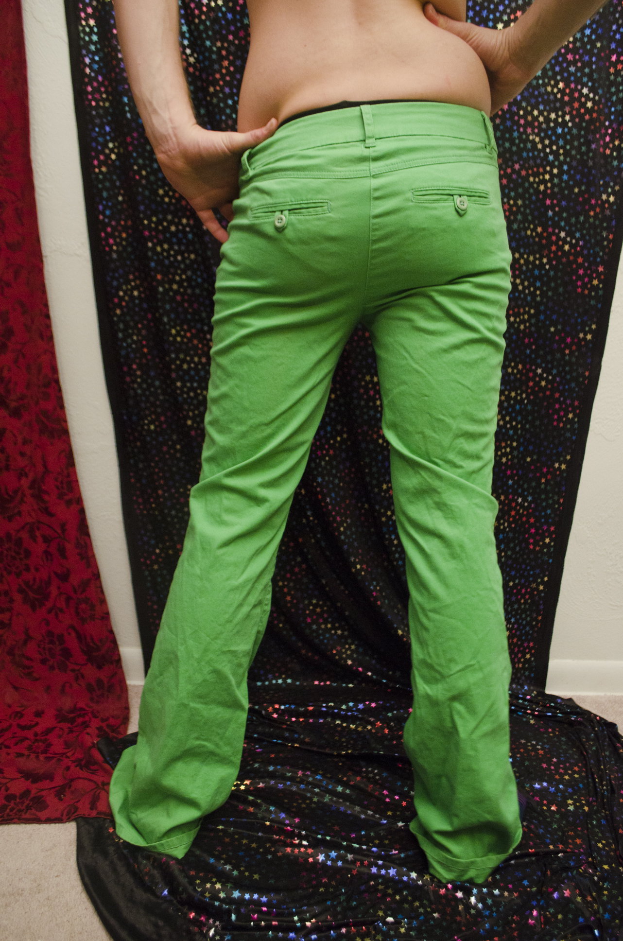 Green Bootcut Jeans - Jeans Am