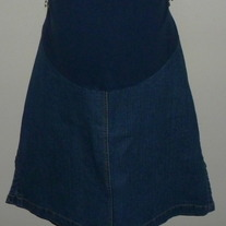 Denim Skirt-Maternity Announcements Size Medium  04271