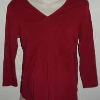Red Long Sleeve Shirt-Motherhood Maternity Size Small  CL413