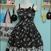 Bodyline Music Note JSK - Black