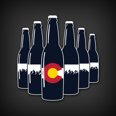 Co six pack die-cut decal