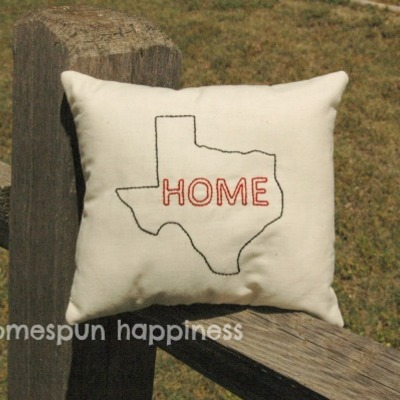 Mini home state pillow