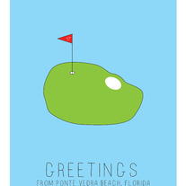 Golfing in Ponte Vedra Beach Card