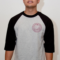 The Oh Man! College Baseball Tee in Heather Grey