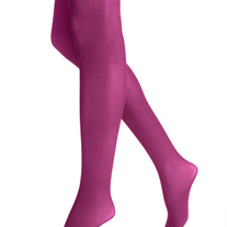 M-L HUE pink purple opaque tights