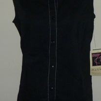 Black Sleeveless Top-NEW-Tomorow's Mother Size Medium  CL413