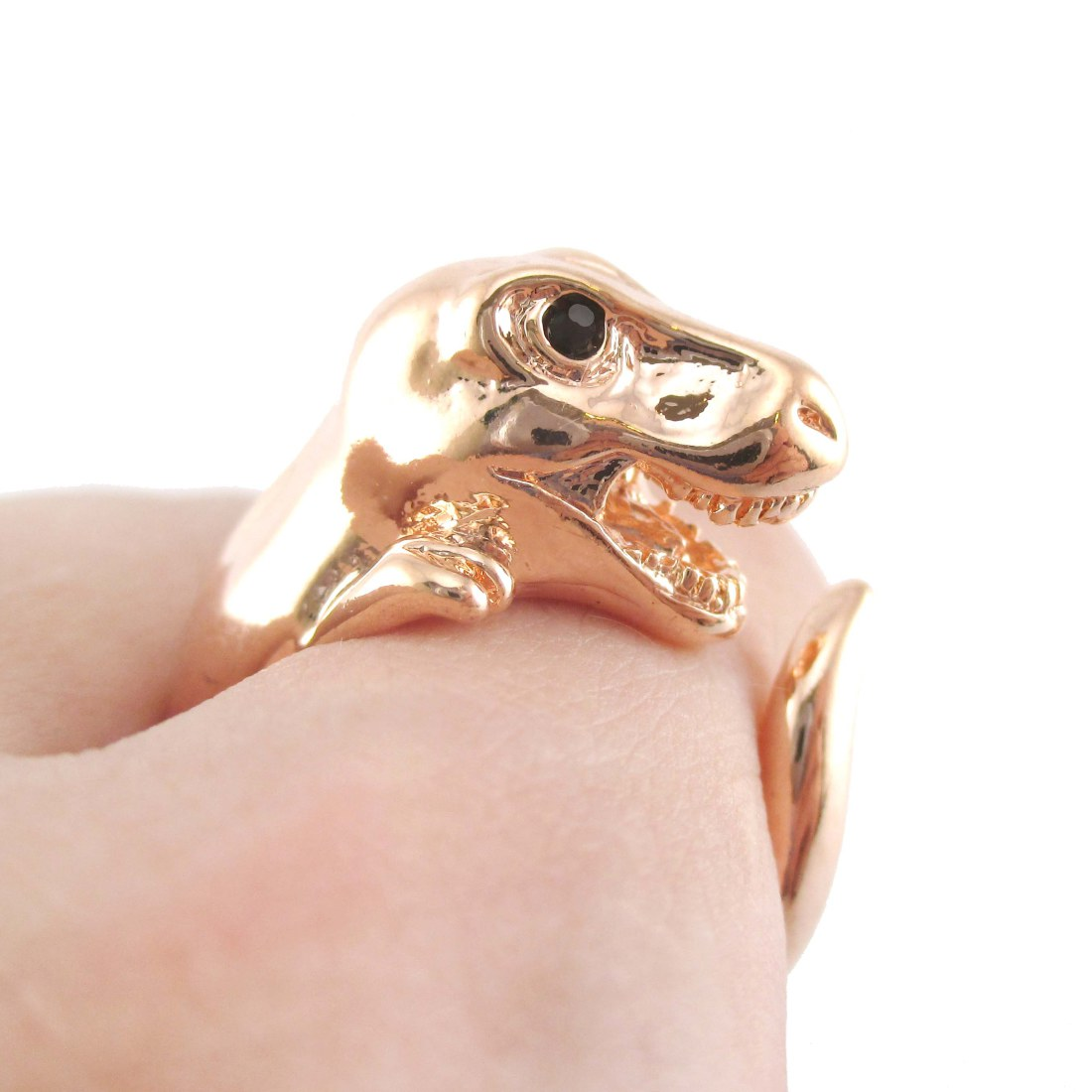 non unconventional ring diamond dinosaur elegant alternative engagement bone rings wedding of