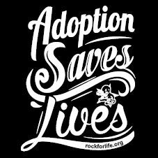 """adoption saves lives"" bumper sticker"