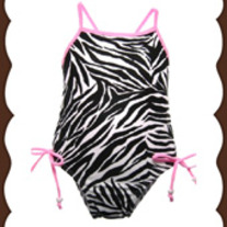 Babi-Kini Zebra One Piece Swimsuit