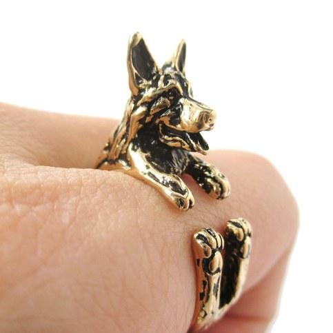 German Shepherd Jewelry Rings