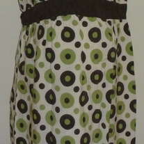Brown/Green Dot Dress-NEW-Motherhood Maternity Size Medium  GS513