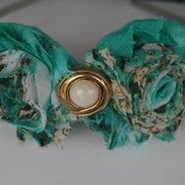 """Teal Deal"" Shabby Sass headband"