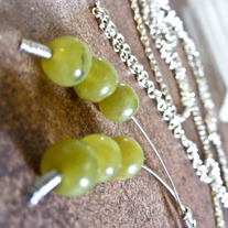 Extra-Long Jade Lariat Necklace