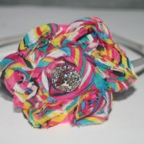 """Rainbows"" Shabby sass headband"