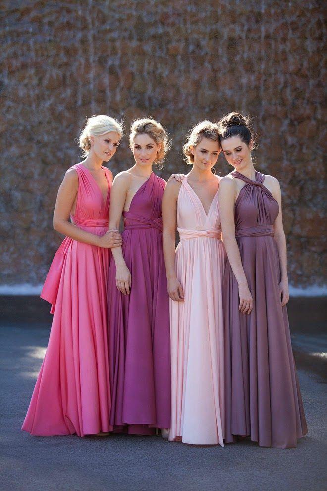 convertible bridesmaid dress, long bridesmaid dresses, chiffon ...